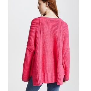 Free people take me over v neck sweater